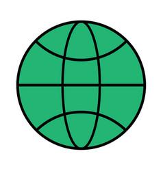The globe the black color icon vector
