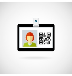 Identification card vector