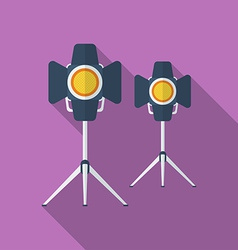 Icon of cinema lamp or lighter flat style vector