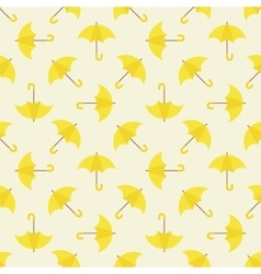 Yellow umbrella seamless pattern vector