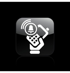 Phone alarm icon vector