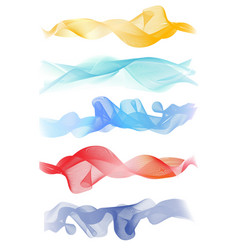 Beautiful Blue Smoke Waved Background vector image