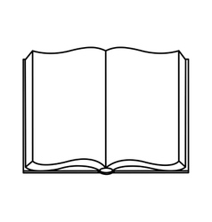 Open book isolated icon design vector