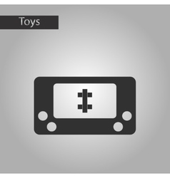black and white style toy console vector image