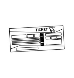 boarding pass or ticket icon image vector image vector image
