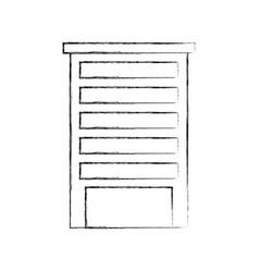 building architecture exterior facade urban vector image vector image