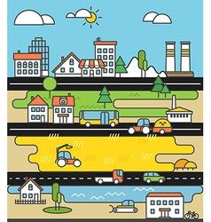 City life minimalism concept vector image