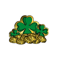 Clover saint patrick celebration vector