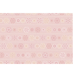 Cute pale rosy blossom seamless pattern vector