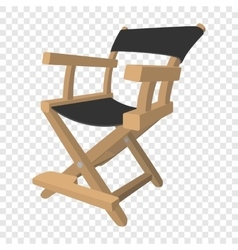 Director chair cartoon icon vector