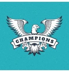 Eagle logo emblem template mascot vector