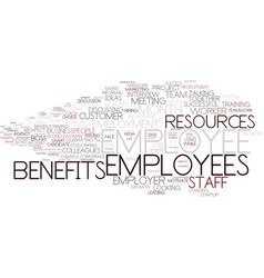 Employee word cloud concept vector