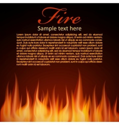 Fire background for your Design vector image vector image