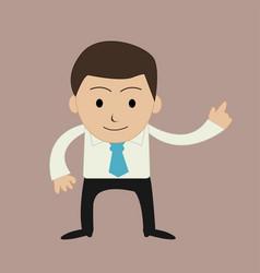 funny cartoon office businessman vector image vector image