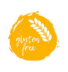 Gluten free label food intolerance symbol vector