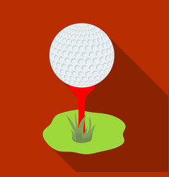 golf ball on the standgolf club single icon in vector image vector image