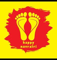 happy diwali or navratri festival greeting vector image