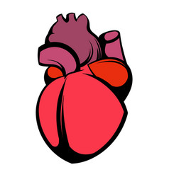 Human heart icon icon cartoon vector