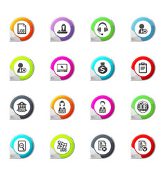 Job icons set vector