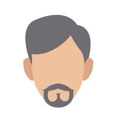 man character face profile cartoon icon vector image vector image