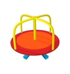Merry-go-round cartoon icon vector