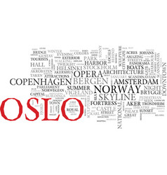 oslo word cloud concept vector image