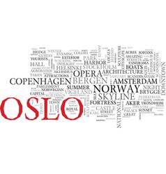 Oslo word cloud concept vector