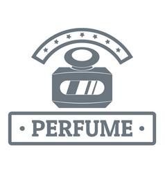 Perfume botte logo vintage style vector