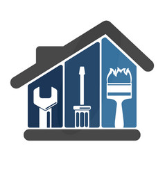 Repairs in the house vector