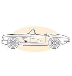 retro sports car - vintage convertible cabrio vector image