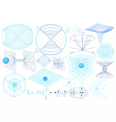 Science elements symbols and schemes vector image