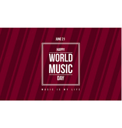 Style banner world music day celebration vector