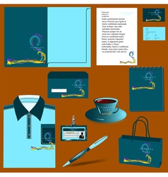 templates with waves vector image