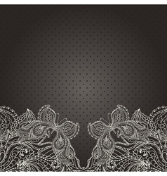 Vintage wedding invitation with lace paisley vector