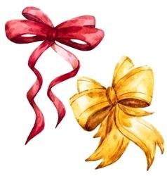 watercolor bows vector image vector image