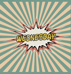 Wednesday day week comic sound effect vector