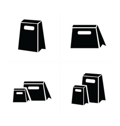 Shopping bags set 4 style vector