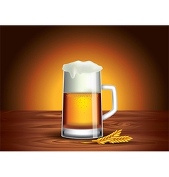 Beer mug background vector