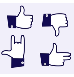 Likes icons vector