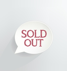Sold out vector