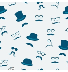 Mustache seamless pattern vector image