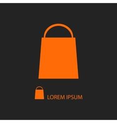 Orange shopping bag vector image