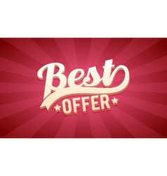 3D Best offer Retro Background vector image