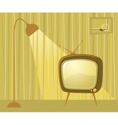retro TV room vector image