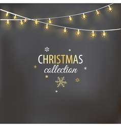 Christmas design with light garland vector