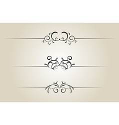 Ornamental rule line vector