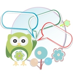 Cute owl with place for your text vector image