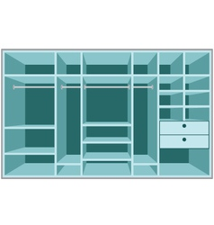 wardrobe room vector image