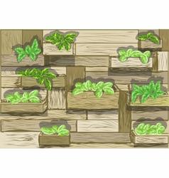 Garden wall vector