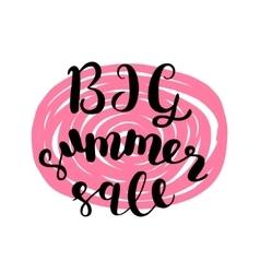 Big summer sale brush lettering vector